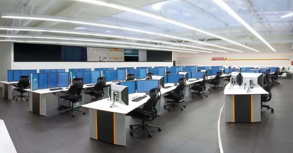 Iberia control room