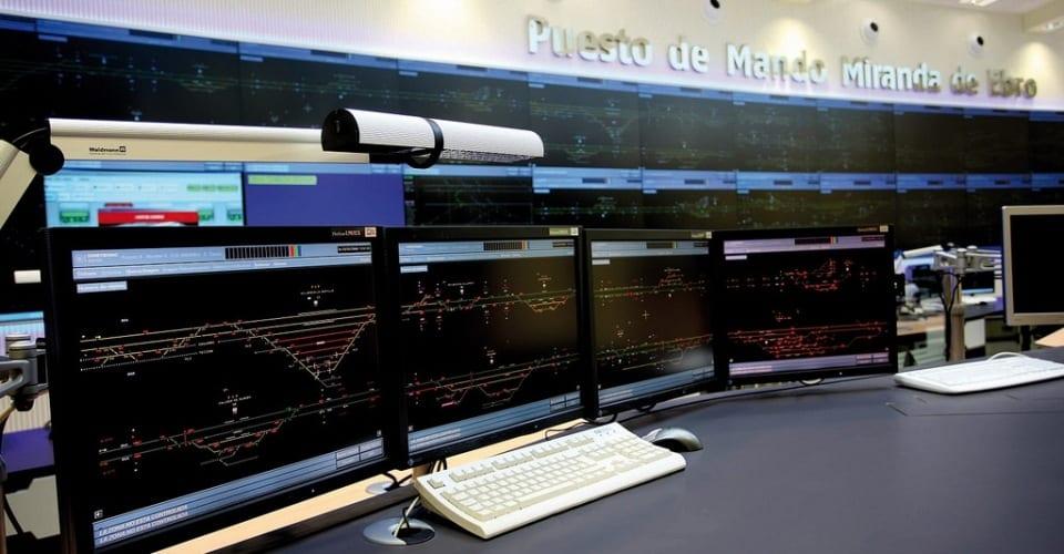 Sala de control Miranda de Ebro ADIF