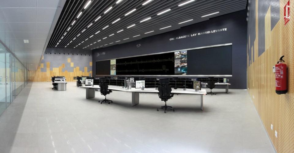 Videowall centro de control ADIF Albacete