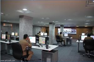 sala de control en la meca