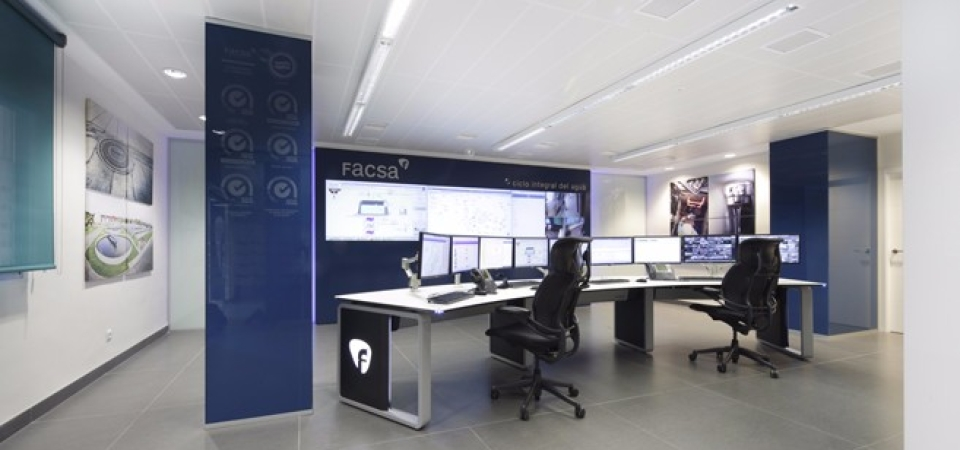 Control Room Furniture Property control room for integral water cycle facsa - gesab