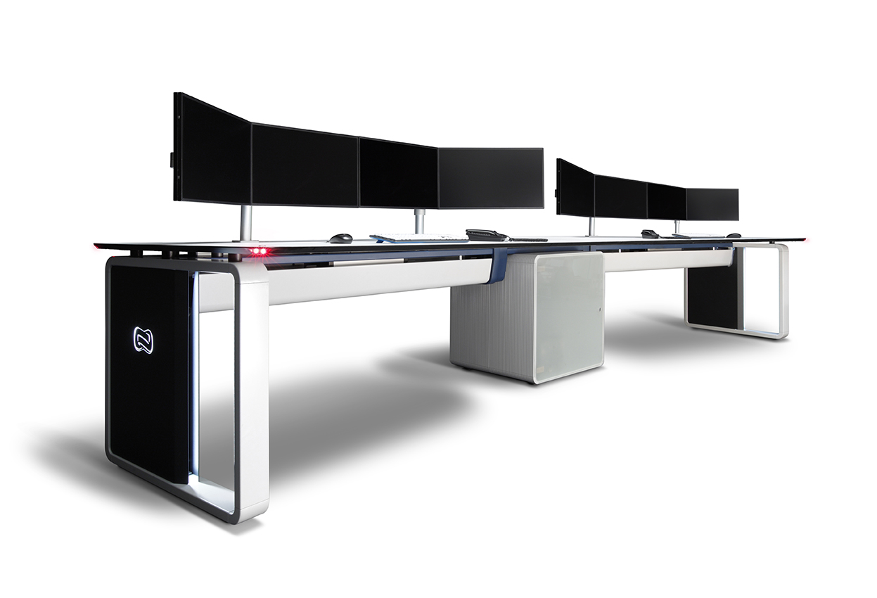 Technology In Furniture For Multimedia Desks Technical Furniture For Control Rooms Gesab