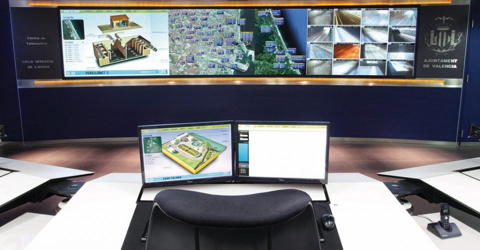 control center acciona aguas de valencia