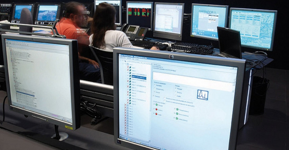 control room  abertis telecom gesab