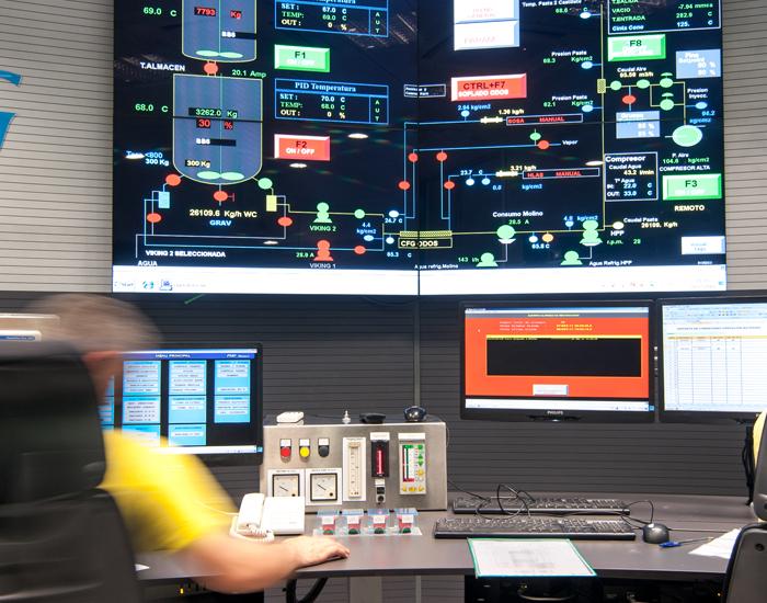 centro de control botoneras gesab