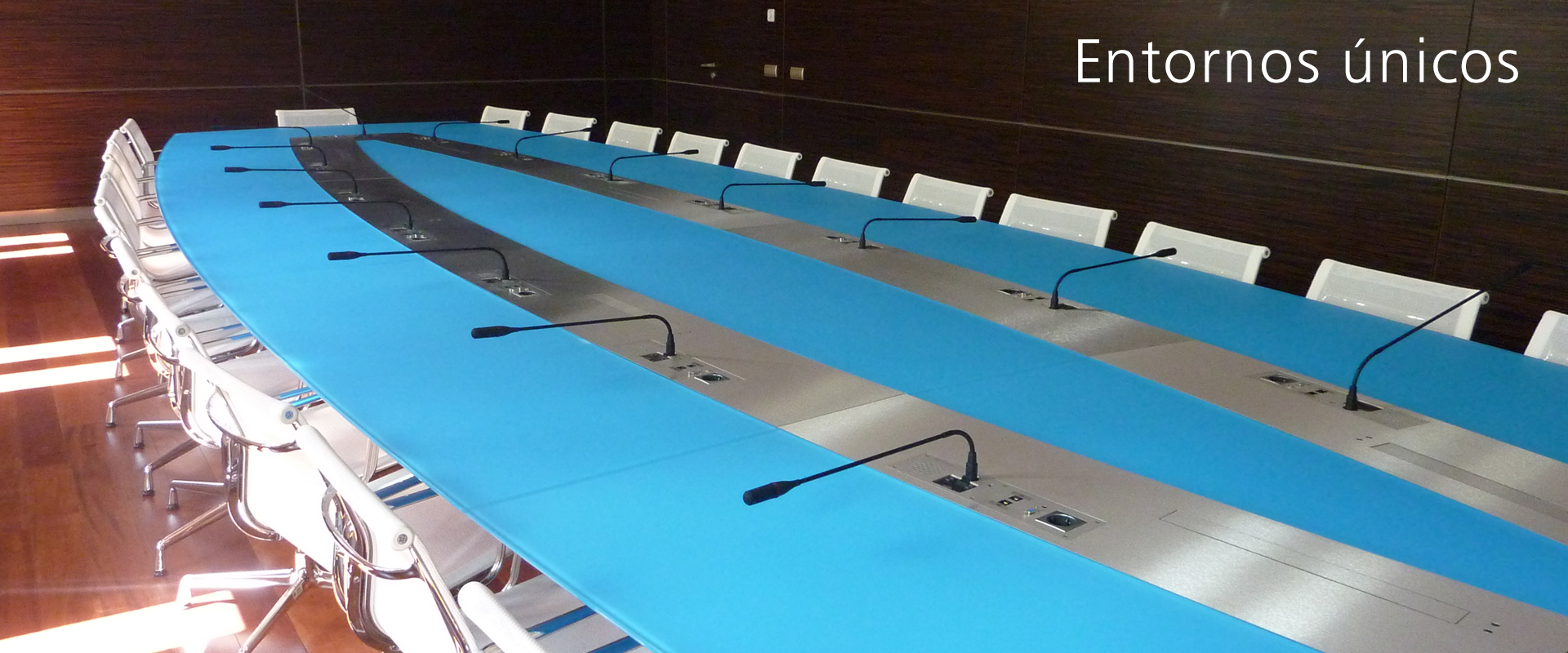 mesas para salas de reunión