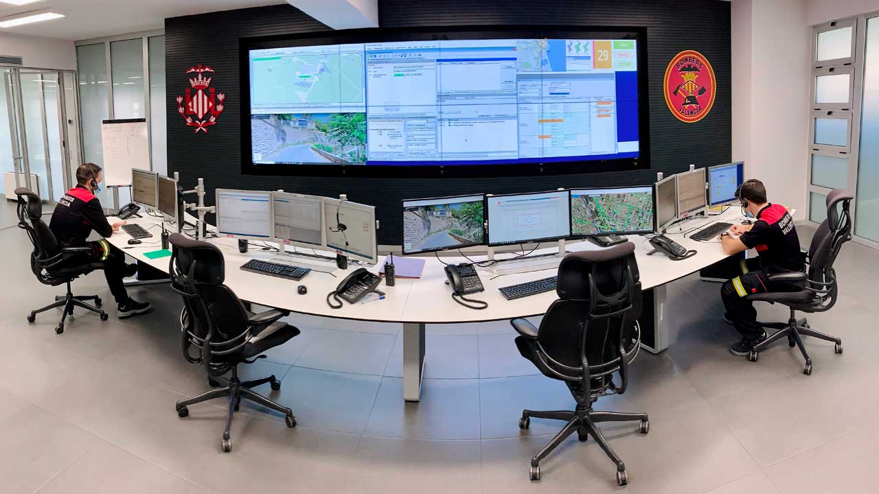 Centro de control Bomberos de Valencia