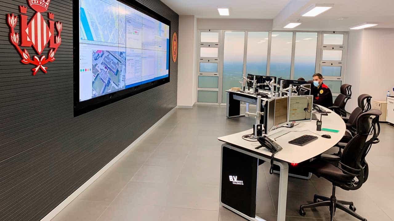 Sala de control Bomberos de Valencia