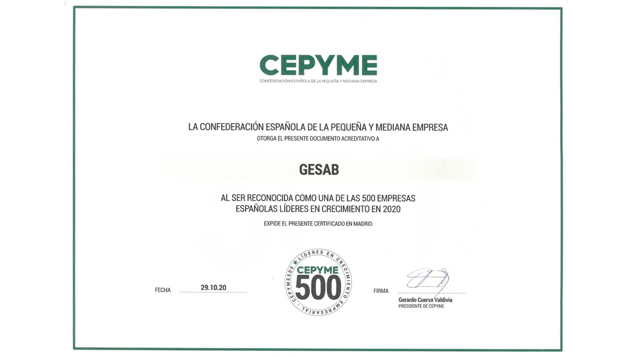 CEPYME recognition GESAB