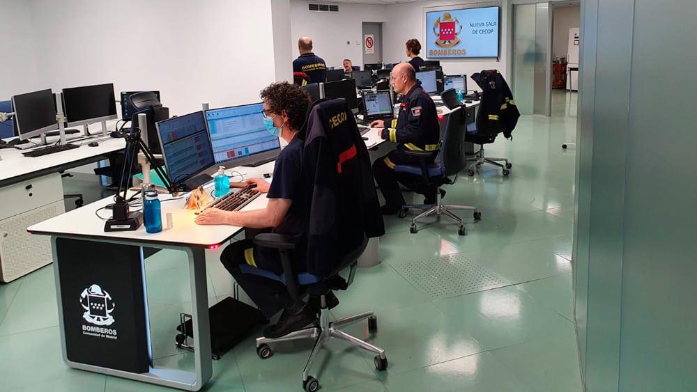 Sala de Control Bomberos de Madrid