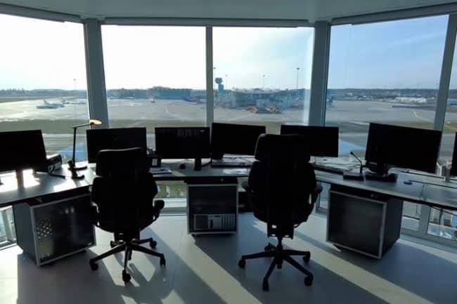 Aeropuerto de Bucarest consolas de control
