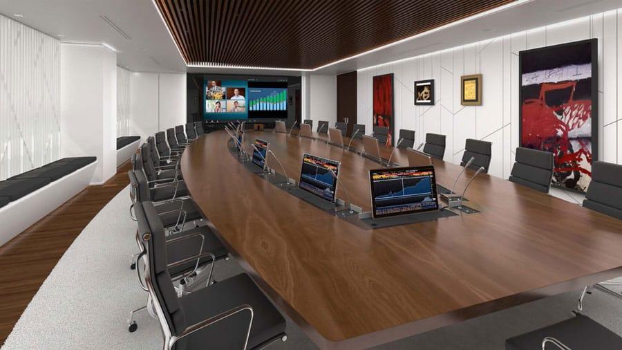 Sala de reuniones de videoconferencias